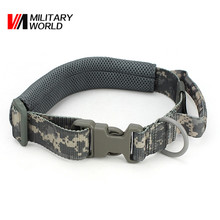 Military Tactical Pet Dog Collar Camouflage Hunting Airsoft Paintball Training Gear Adjustable Dog Collar Hunting Accessories