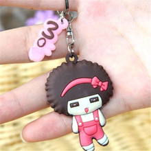 FD2722 new  Sweet Cartoon Silicon Keyring Key Chain Bag Wallet Key Chain ~Cute Doll~