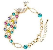 Top-quality colorful crystal peacock bracelet free shipping