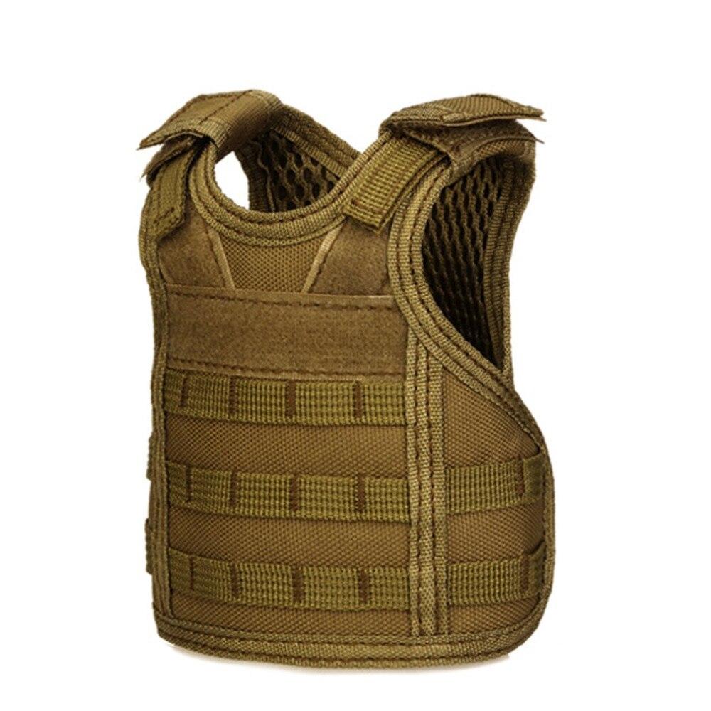 Hiking Vests Independent Tactical Beer Military Molle Vest Mini Miniature Wine Bottle Cover Vest Beverage Cooler Adjustable Shoulder Straps