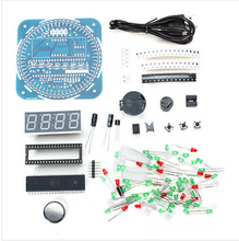 2015 NEW DIY DS1302 Rotation LED Electronic Clock Kit 51 SCM Learning Board(China)
