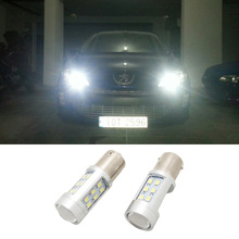 2x P21W 1156 BA15S LED DRL daytime running light Fog lamp for peugeot 308 peugeot 408 RCZ Citroen C4L Fiat Viaggio