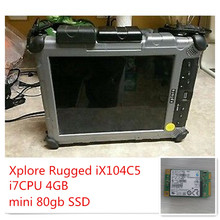 Xplore Rugged iX104 C5 i7CPU 4GB with 80GB SSD,10.4in Dual Mode Sunlight Read Complete(China)