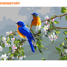 CHENISTORY Birds Lover Diy Digital Painting By Numbers Kits Acrylic Picture Hand Painted Unique For Wedding Decoration 40x50cm(China)