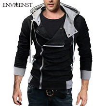 12 cores M-6XL 2016 Hoodies Homens Moletom Masculino Agasalho Com Capuz Jacket Casual Masculino Casacos Com Capuz moleton Assassins Creed
