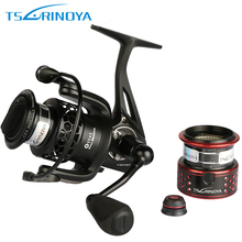 Trulinoya Carbon Fiber Brake Full Metal Spinning Fishing Reel TSP2000 12BB Max Drag 7kg Double Spools For Light Weight Jiging