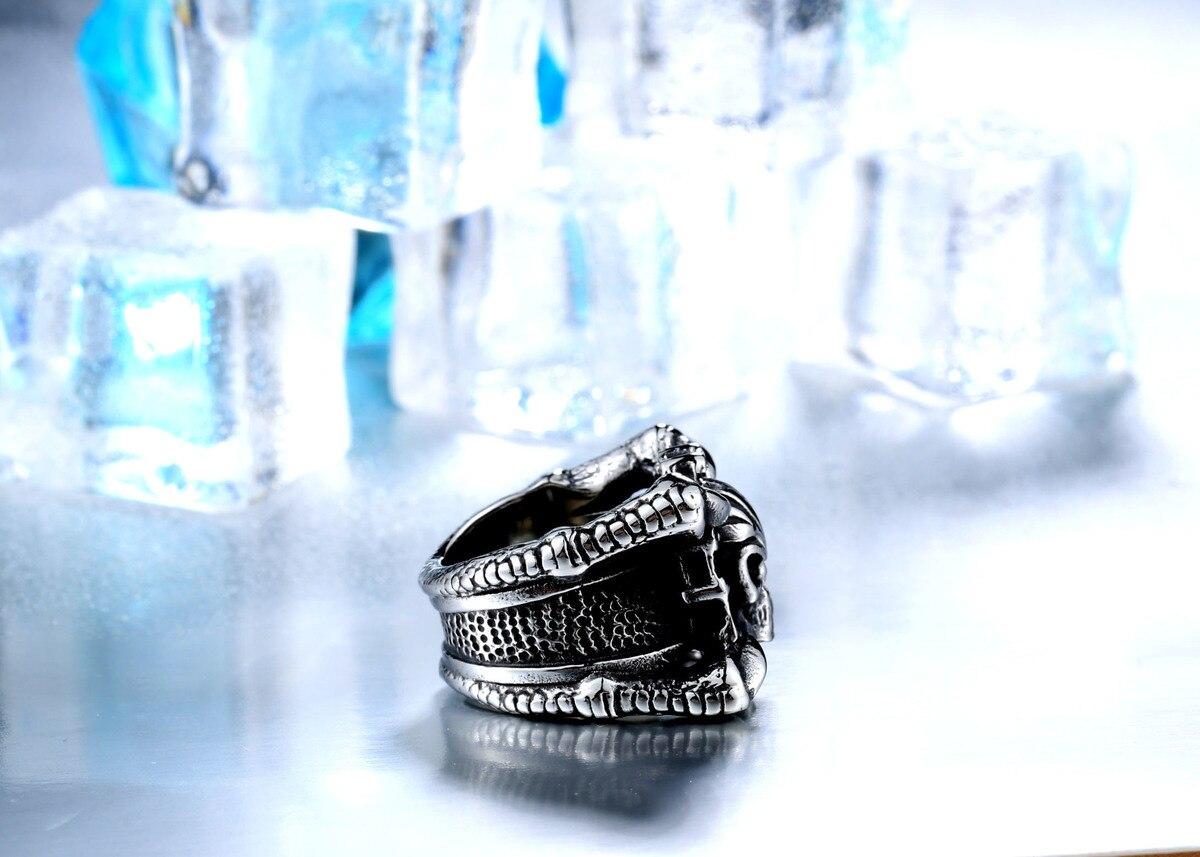 แหวนโคตรเท่ห์ Code 021 แหวน Biker สแตนเลส เท่ห์ๆโหดๆ7