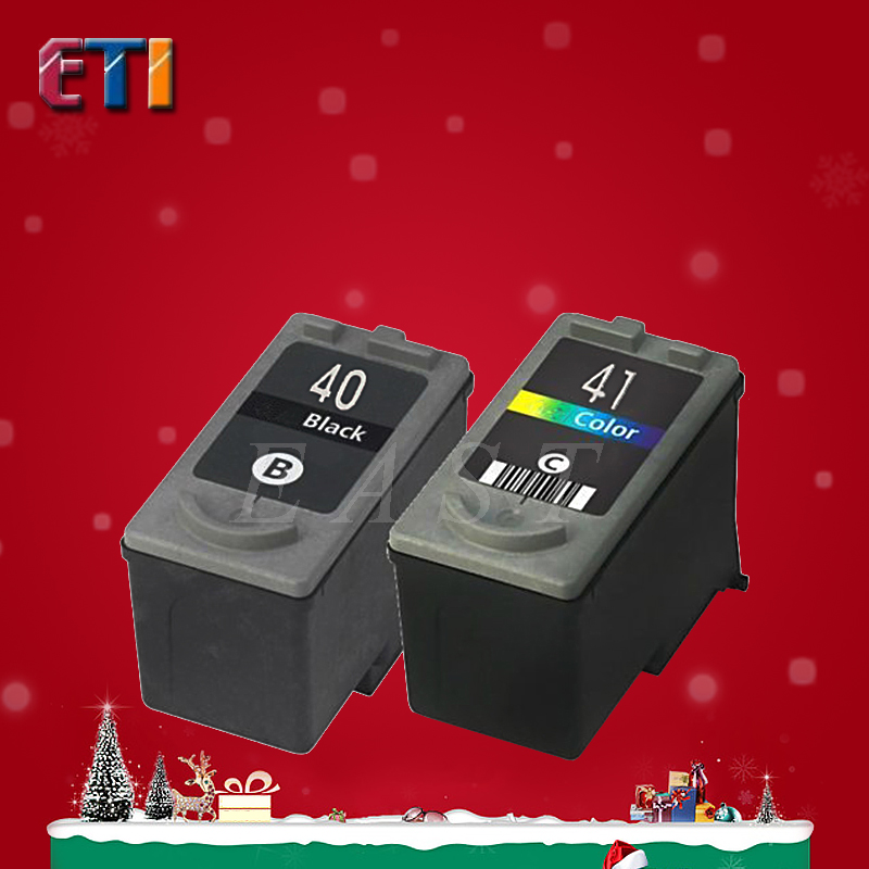 2PK For Canon PG-40 CL-41 PG40 CL41Ink Cartridges PG 40 CL41 For PIXMA MP140 MP150 MP160 MX310 MP450 MP170 IP2600 IP1800 IP1700<br><br>Aliexpress