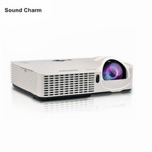 Short throw projection Daylight 3500ANSI USB HDMI Support 1080p full HD multimedia 3D DLP Projector Proyector beamer(China)