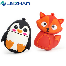 The Cute Animal USB Flash Drive 32GB 16GB Silicone Fox/Bee/Owl/Penguin USB Pen Drive Pendrive 64GB Computer Memory Stick 8G 4GB