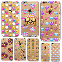 Back Cover For Apple iphone 4 4s 5 5s SE 5C 6 6s 6 plus fundas Funny Cute Monkey Emoji Soft Sillicon Transparent TPU Phone cases