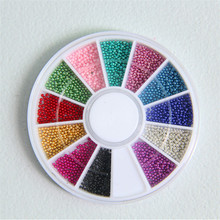 New 12 Colors Caviar Beads Nail Art Studs Charms 3D Diy Glitter Rhinestones & Decorations For Nails
