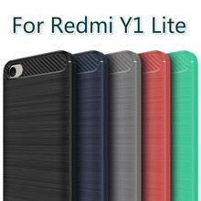 Ultra Thin Glossy Carbon Fiber Texture Soft Rubber Cases for Xiaomi Redmi Y1 Lite Proetective Covers Bags for Redmi Note 5A 16GB(China)