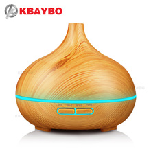 KBAYBO 300ml Air Humidifier Essential Oil Diffuser wood grain Aromatherapy diffusers Aroma Mist Maker 24v led light for Home(China)