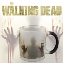 Drop shipping!The walking dead Mug color changing Heat Sensitive Ceramic 11oz coffee cup surprice gift for boy friend(China)