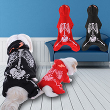 Four - Feet Jumpsuit Luminous At Night For Dogs Puppy Pet Dog Clothes Skeleton Skull Sweater Apparel Pet Accessories(China)