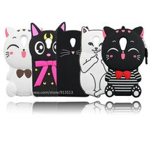 Silicone Pocket Sweet Cat Stitch Judy 3D Design Phone Case For Meizu M3S M3 mini M2 mini