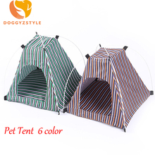 Portable Folding Pet tent Dog House Cage Puppy Cat Outdoor Tents Camouflage Kennel For Small Dogs Pets Goods 6 Color DOGGYZSTYLE(China)