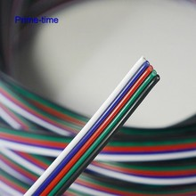 10m 5 Pin RGBW wire cable 5 Channels Extension Extend Cable Wire Cord Connector For  RGBW RGBWW LED Strip free shipping
