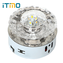 ITimo Home Lighting Fixture Pendant Lamp LED Wall Lamp Colorful Crystal Decoration Light 3W/5W For Supermarket Bar Exhibition(China)