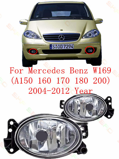For mercedes-benz W169  A150/160/170/180/200  2004/05/06/07/08/09/10/11/12 FOG LAMPS  Fog Lights car styling  Oval<br>