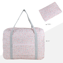 Unisex Waterproof nylon strip dots folding travel Oxford PACKAGE bag smart portable women bags Luggage Travel Handbags(China)