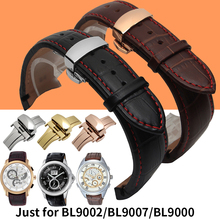 Genuine Calf Leather Band Watchband Waterproof 21mm Black Brown Watchband for Citizen Watch BL9002 BL9007 9000 Butterfly Buckle(China)