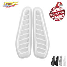 Free Shipping Auto Decorative Air Flow Intake Scoop Turbo Bonnet Vent Cover Hood For Fender 1 Pair(China)