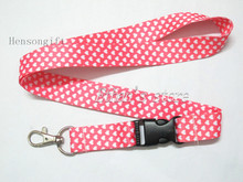 Girls Pink Hearts Painting  Key Lanyard Badge Heart Phone Neck Straps for Party