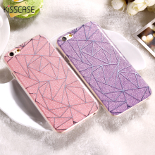 KISSCASE Phone Cases For iPhone 7 6 6s Plus 5S SE Case Shiny Bling TPU + PC Cover Coque For Huawei P10 Plated Sliver Case(China)