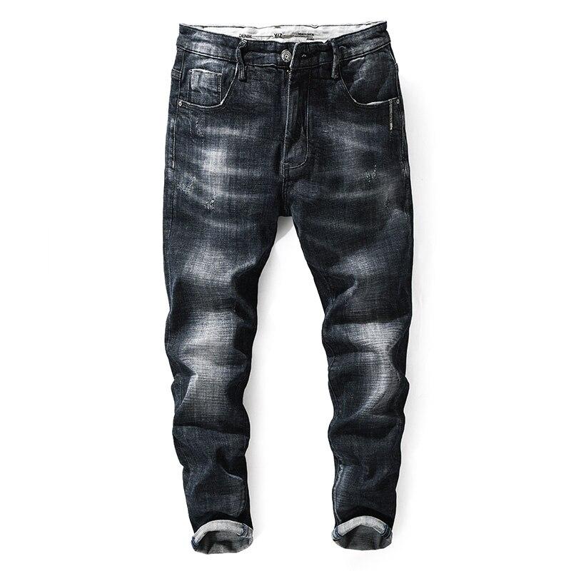 2017 Newly Autumn Winter Fashion Mens Jeans Simple Denim Pants Waist Print Designer Balplein Brand Ripped Jeans Men Black JeansÎäåæäà è àêñåññóàðû<br><br>