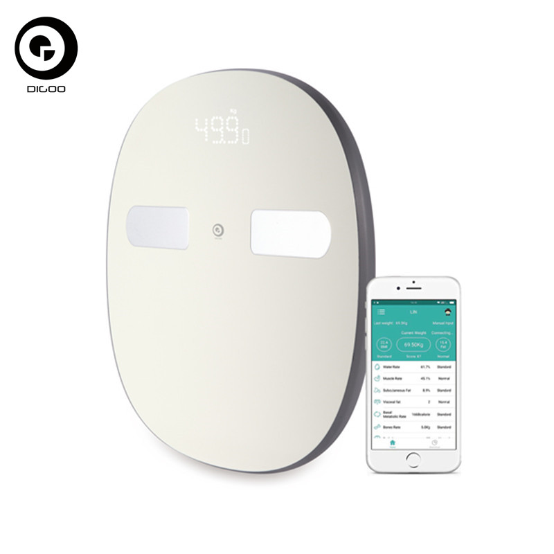 Digoo DG-SO38H 180Kg Smart LED Electroni Bluetooth Large Body Fat Scale Composition Monitor Get Fit App Weight Balance Bariatric<br>