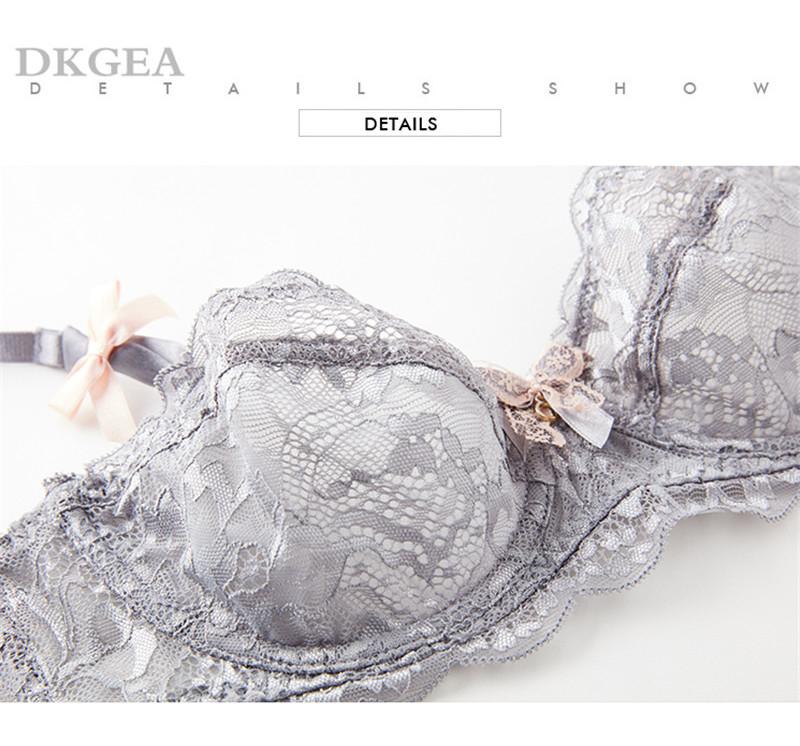Hot Sexy Bra Set Plus Size 36 38 40 Ultrathin Underwear Women Set White Lace Bra Embroidery Transparent Lingerie Brand Brassiere 12