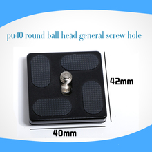 Cheap Plate tripod ball head camera plate PU40 with B0 J0 Quick Release Plate PU-40 for camera Safe Install Outstanding quality(China)
