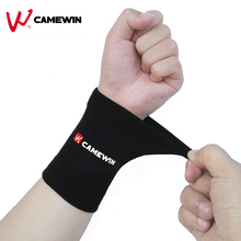 1 Pair Absorb Sweat Wrist Support Brace Wristband CAMEWIN Brand Lengthened High Elasticity Soft Sports Wrist Protect Black Brown(China)