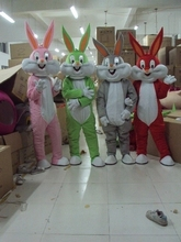 Bugs bunny mascot costume Adult size  Customized costume cartoon cosplay clothes  Free shipping+Cardboard head
