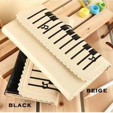 2017 New Design Piano Keys Pattern Money Bag Lovely Medium Type Card Bag Women 2-Layer Purse