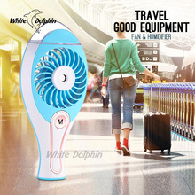 Creative USB Mini Fan Cooling Flexible Portable Hand Fan Battery Powered Air Conditioner Cooler Mist Humidifier For Home Travel