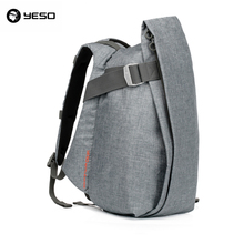 YESO Stylish Vintage Nylon Mens Fashion Laptop Backpack Famous Design Casual Travel Unisex Double Shoulder Bag Backpacking Bags(China)