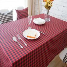 New Black White Striped Table Cloth Rectangular American Country Style Printed Table Cover High Quality Cotton Linen Tablecloths