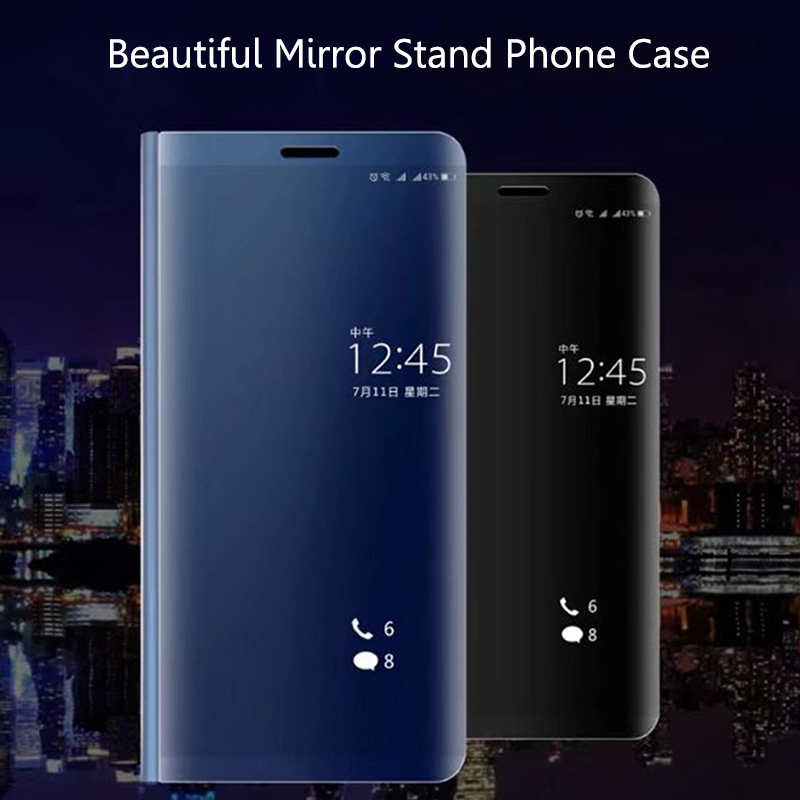 Smart Mirror Plating Phone Case For Xiaomi Redmi 5 Plus Flip Stand View Case Back Cover For Redmi 5 Full Protection Capas Coques (1)