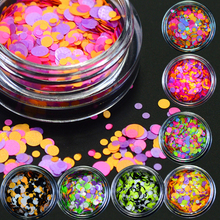 1g Mixed Round Shape Nail Glitter Sequins for Nail Art 1mm 2mm Candy Colors Thin Paillette Nail Tip Decoration DIY BEP25-35