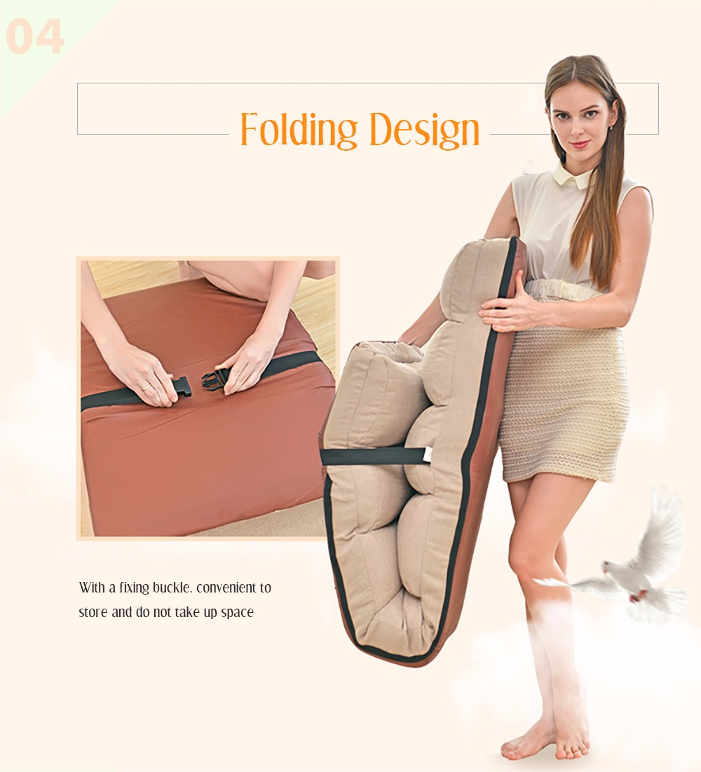 Adjustable Lazy Sofa Floor Chair with Feet Cushion