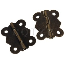 4cm Vintage Antique Bronze Butterfly Cabinet Door Cupboard Hinges Pack of 100 BQLZR(China)