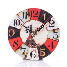 Simple Fashion Round Wall Clock Imitation Wood Retro Number Round Clocks Home Decorate Watch For Living Room Bedroom Off Hogard