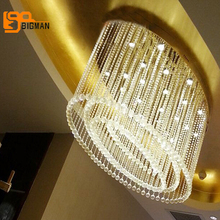 new item oval design chandeliers crystal LED Light length 120cm modern projects crystal lighting(China)