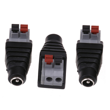 3PCS/Lot 12V Female Connector 2.1*5.5mm DC Power Jack Plug Adapter Conector For Led Strip Light Connection(China)