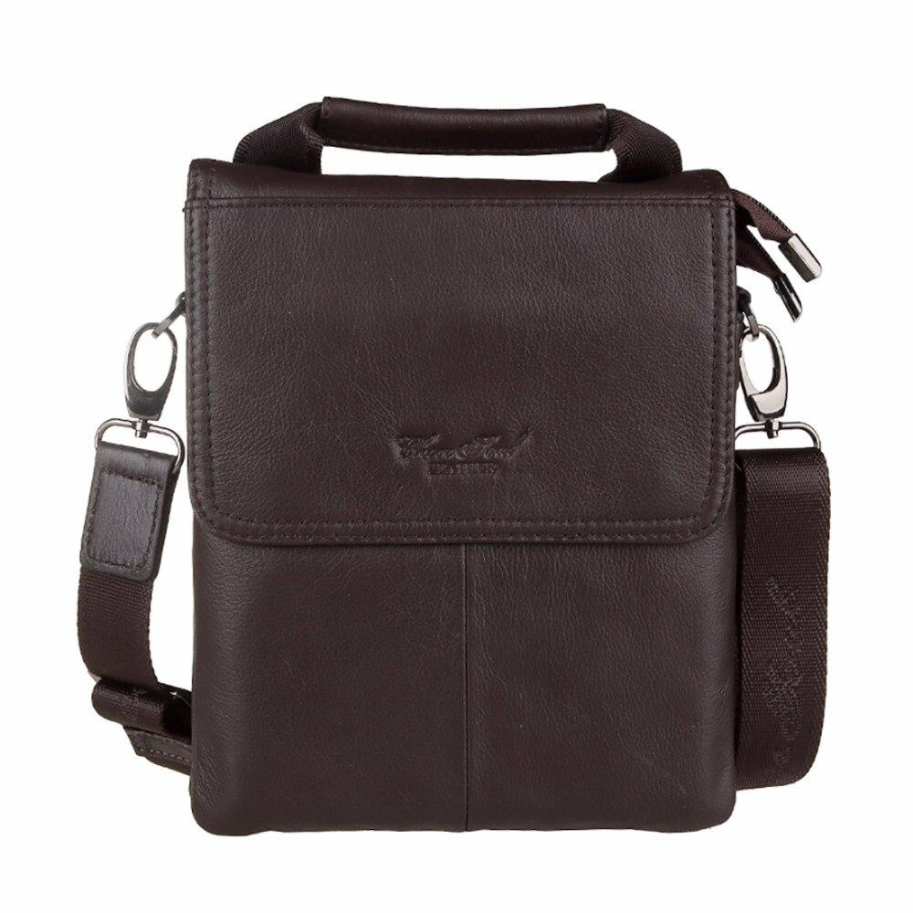 High Quality Genuine Leather Men Business Satchel Brand Male Tote Handbag Casual Cross Body Bags Cowhide Messenger Shoulder Bag<br>