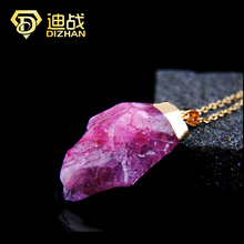 New Desinger Health Purple Crystal stone statement Necklaces Radiation Protection Natural Stone necklaces for women Collar