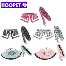 HOOPET Pet Cat Walking Harness and Leash Clothes Small Puppy Harness Vest beautiful Jacket 5 styles(China)